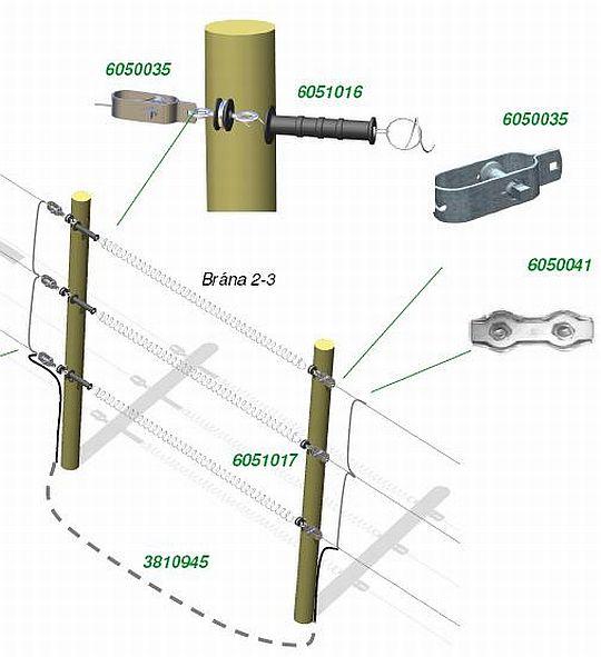 pružinová brána pro ocelový drát
