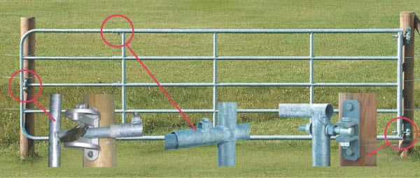 Kovové pastvinové brány délkově stavitelné