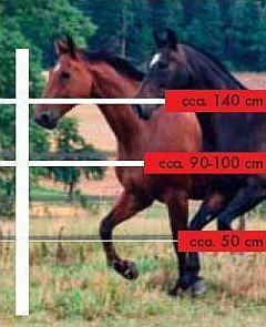 elektrické ohradníky pro koně - výška vodičů