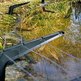 rybník s ochranou proti volavkám